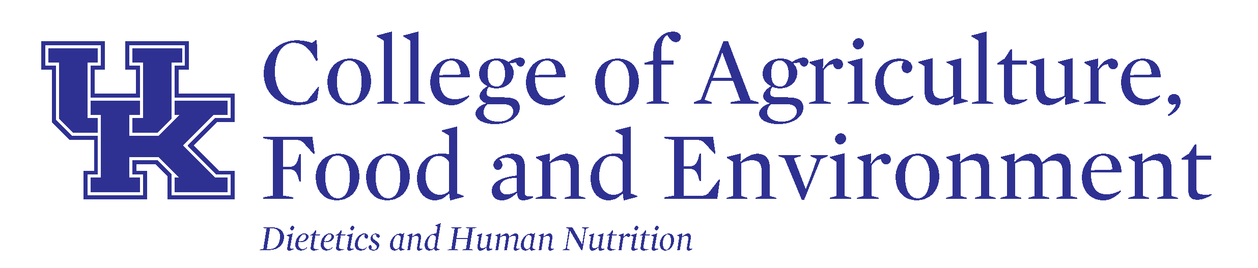 University of Kentucky department of Dietetics and Human Nutrition logo